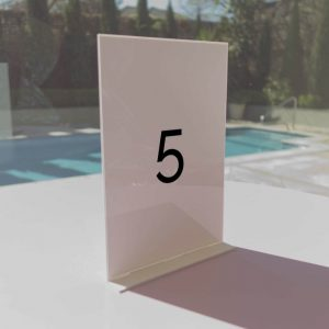 Acrylic Table Number In Minimalist Style 01