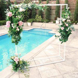 Arch With Three Part Wedding Florals 02