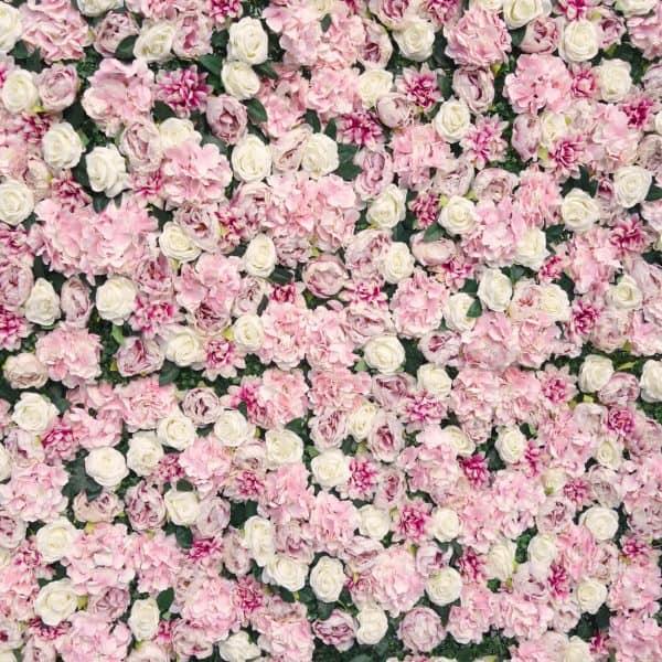 Blush Pink Flower Wall 01