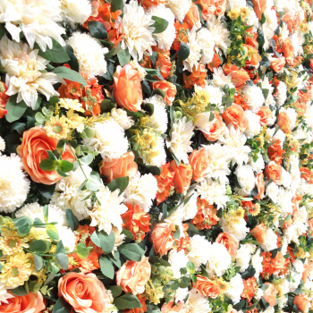 Springtime flower wall for event hire