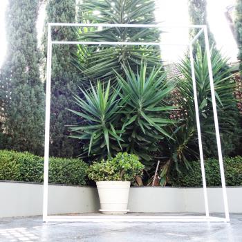 White Rectangular Frame Backdrop for event hire