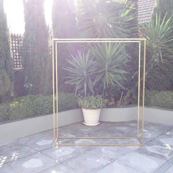 Gold Frame Backdrop 01