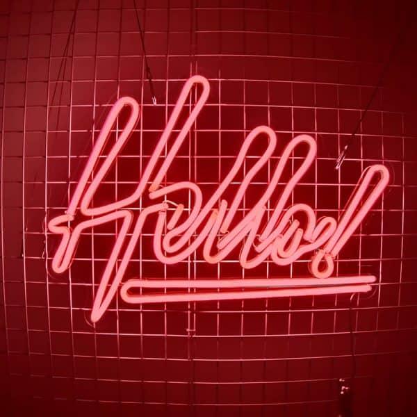 Hello Neon Sign 03