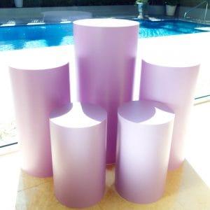 Lavender Round Plinths 01