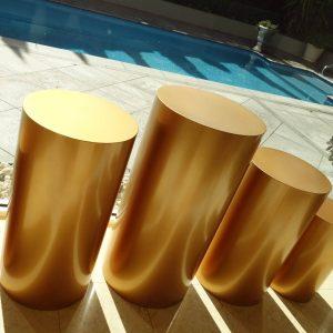 Round Gold Plinths 02
