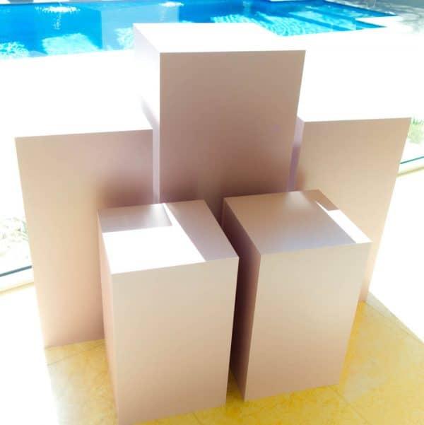 Square Pink Plinths 01