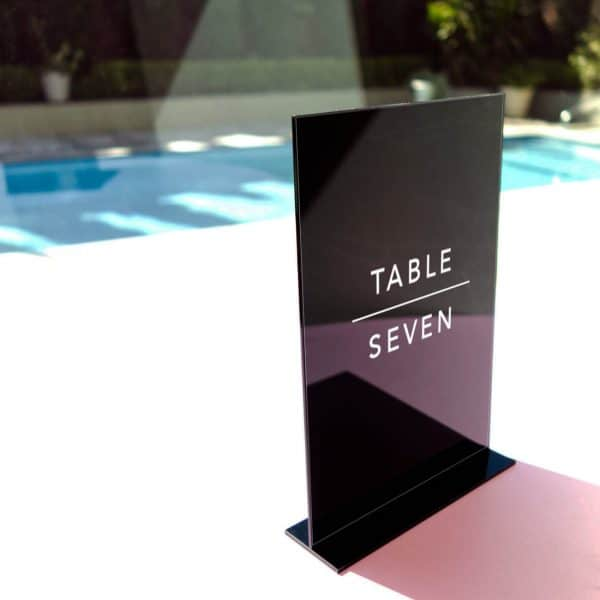 Acrylic Table Number In Duplex Style 04