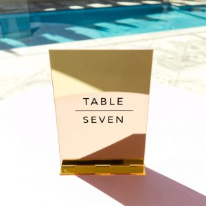 Acrylic Table Number In Duplex Style 07