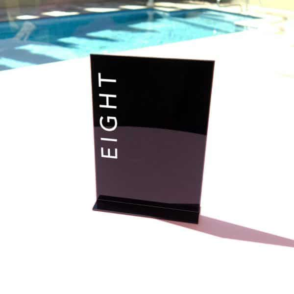 Acrylic Table Number In Vertical Style 06