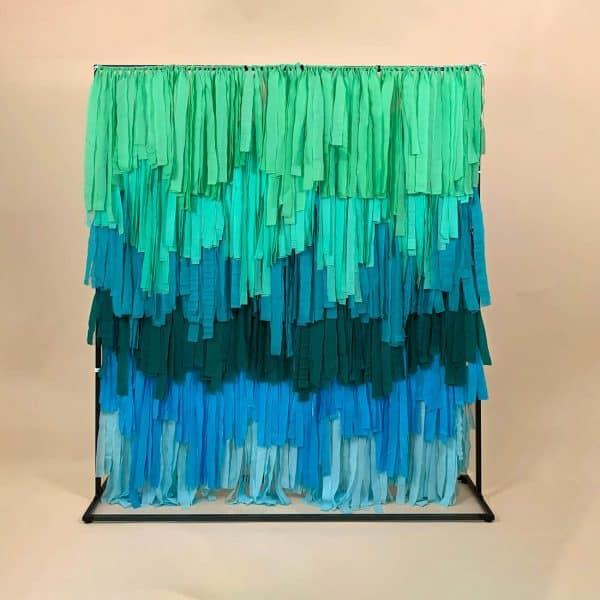 Aqua Blue Streamer Backdrop 01